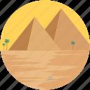 desert, giza, landmark, landscape