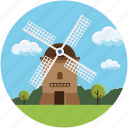 building, ecology, industry, landscape, mill, turbine, windmill
