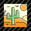 cactus, desert, landscape, nature, sand icon