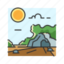 cave, mountain, nature, rock, stone icon