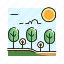 forest, garden, jungle, nature, tree icon