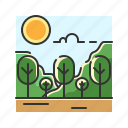 forest, jungle, nature, plant, tree icon