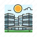 apartment, architecture, building, city, hotel, megapolis, metropolis icon