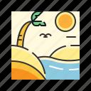 desert, hot, island, oasis, summer, vacation icon