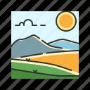 grass, hills, landscape, mountain, nature, steppe