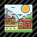 civilization, home, house, village icon