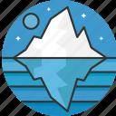 glacier, iceberg, polar, north pole, melting, landscape