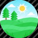 plains, plain, landscape, nature, scenery