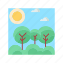 forest, landscape, nature, scenery, tree icon