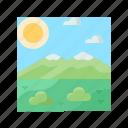 landscape, nature, scenery, sky, tundra icon