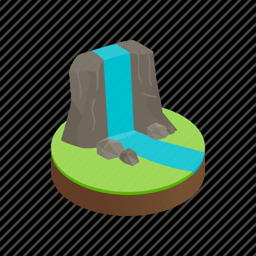 isometric, mountain, nature, outdoor, peak, rock, view icon