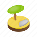 desert, isometric, landscape, nature, plant, sky, tree icon