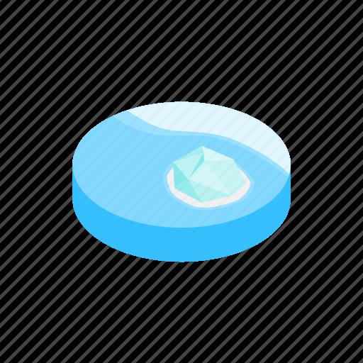 cold, ice, iceberg, isometric, nature, sea, water icon
