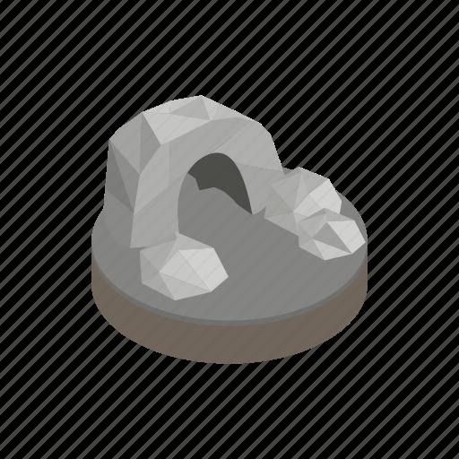 cave, landscape, mountain, nature, rock, stone, travel icon