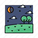 astronomy, eclipse, moon, nature, weather icon
