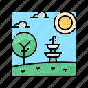 architecture, decoration, fountain, garden, water icon