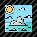glacier, iceberg, landscape, nature, ocean
