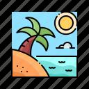 beach, island, landscape, nature, sea icon