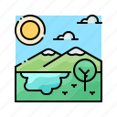 forest, jungle, landscape, nature, tropical icon