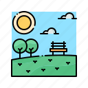 landscape, nature, outdoor, park, summer icon