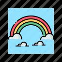 cloud, colorful, landscape, rainbow, sky icon