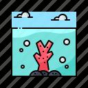 coral, landscape, ocean, sea, underwater icon