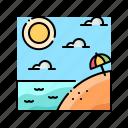 beach, landscape, sea, summer, tropical icon