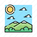 hiking, landscape, mountain, nature, travel icon