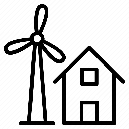 agriculture warehouse, greenhouse, house windmill, rural house, village house icon