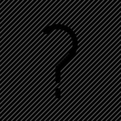 inquiry, interrogation, mark, query, question icon