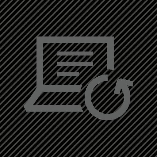 arrow, computer, hardware, laptop, sync, synchronize, update icon