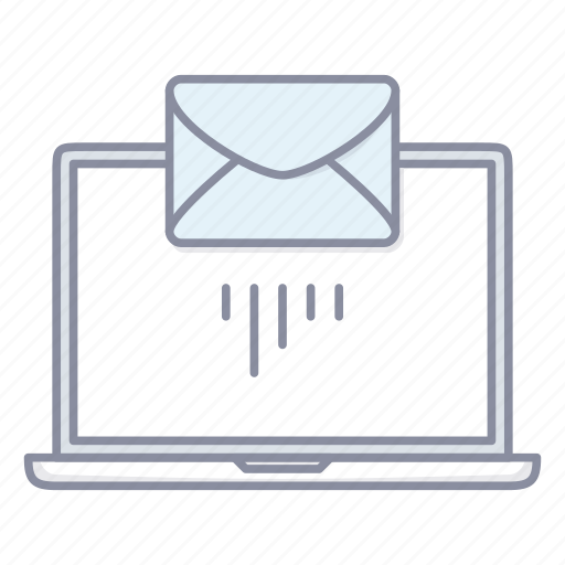 email, envelope, laptop, mail, notebook, send icon