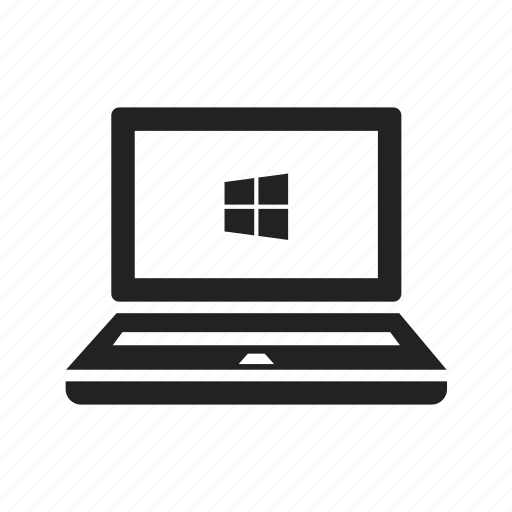 computer, laptop, notebook, screen, window, windows icon