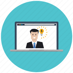 brainstorming, business, creativity, idea, laptop, marketing, seo icon