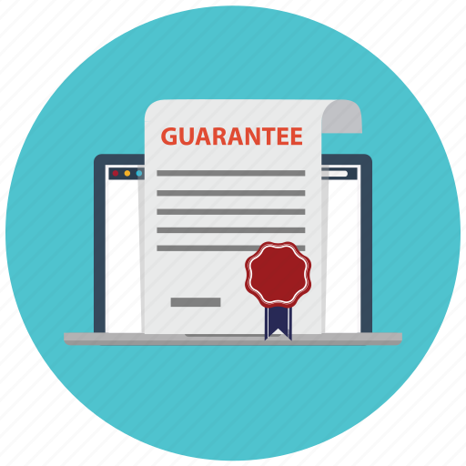 business, guarantee, laptop, satisfaction, satisfaction guarantee, security, warranty icon