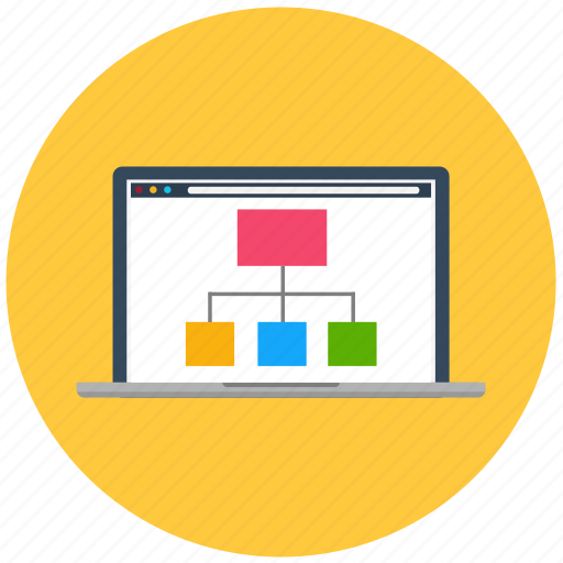 analytics, business, chart, graph, laptop, marketing, statistics icon