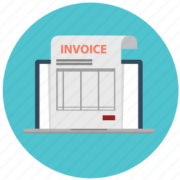 bill, electronic invoice, invoice, online, order, paid, payment icon