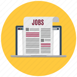 electronic newspaper, job, jobs, newspaper, online, press, vacancy icon