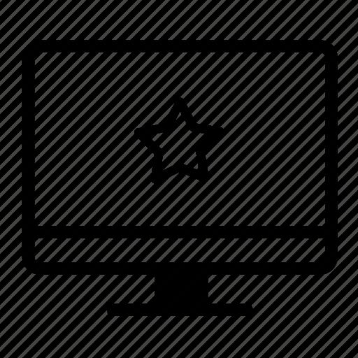 computer, computer screen, desktop, desktop monitor, favorite icon