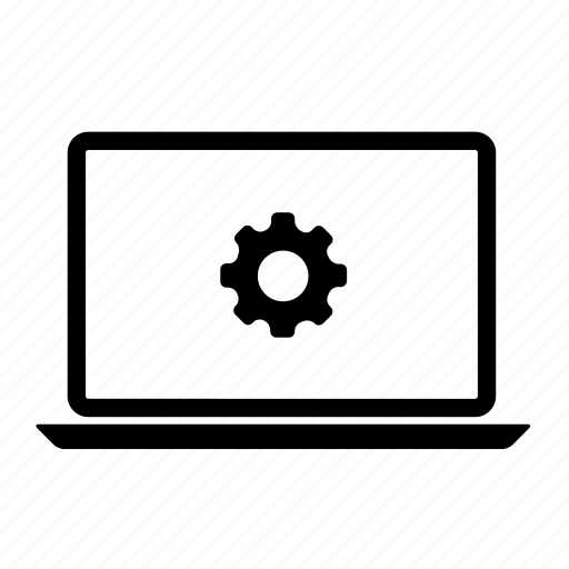 computer, laptop, laptop interface, laptop screen, setting laptop icon
