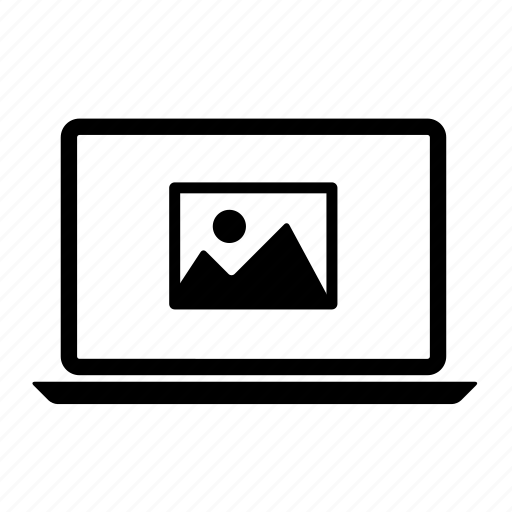 computer, image, laptop, laptop screen, photo, photograph, picture icon
