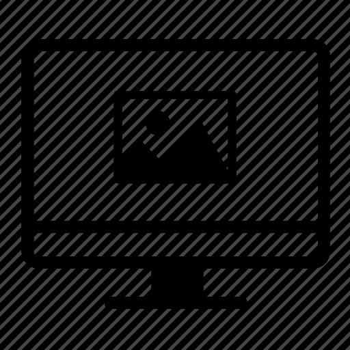 computer, desktop, image, monitor, monitorwithphoto, screen icon
