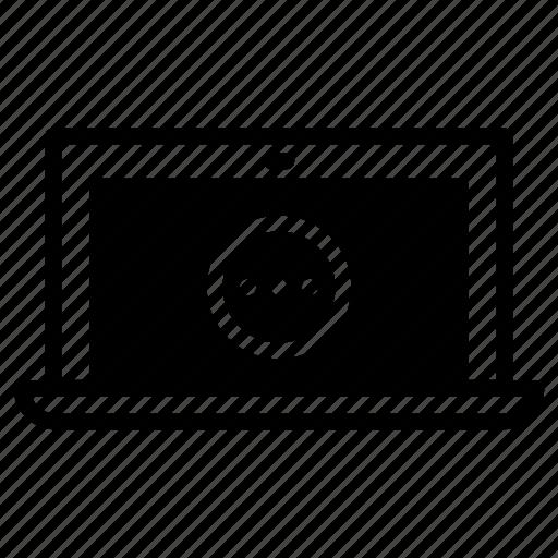 laptop, loading icon