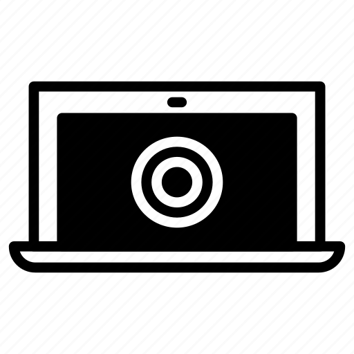 gps, laptop, map, signal icon