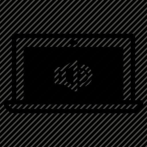 laptop, volume icon