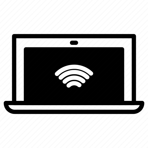 laptop, signal, wifii icon