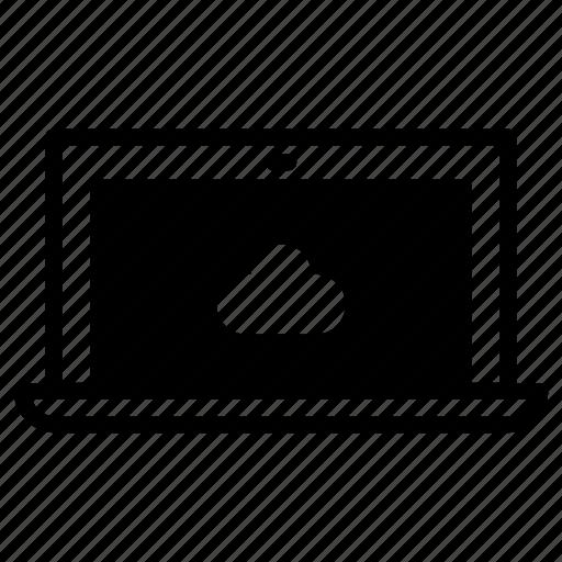 cloud, laptop icon