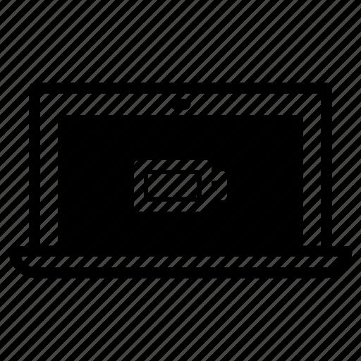 battery, full, laptop icon