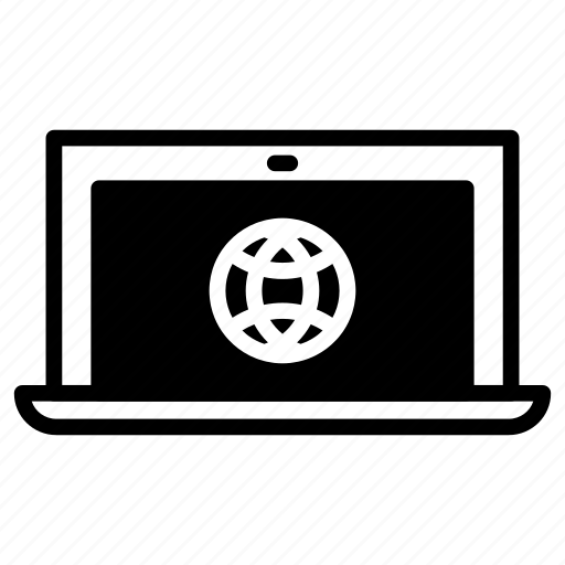 browser, laptop, web icon