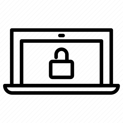 laptop, security, unlock, unlocked icon